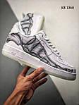 Чоловічі кросівки Nike Air Force 1 Low Skeleton (білі) 1368, фото 5