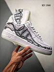 Мужские кроссовки Nike Air Force 1 Low Skeleton (белые) 1368, фото 5