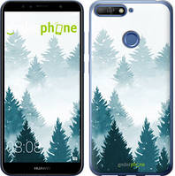 "Чехол на Huawei Honor 7A Pro Акварельные Елки ""4720u-1440-535"""