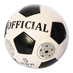 Мяч футбольный EN-3217 размер 5 TPU 400-420 г черно-белый