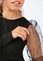 """Стильная блузка с пышными рукавами """"Bailey"""", фото 3"""