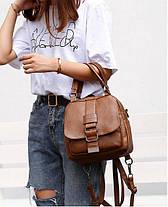 Модна сумка рюкзак трансформер, фото 3