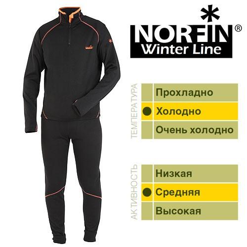 Термобелье мужское NORFIN WINTER LINE (302500), комплект термобелья