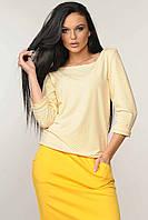 """Стильная блуза в стиле """"casual"""" свободного силуэта в полоску 42-52 размера, фото 1"""