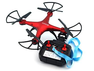 Квадрокоптер  c камерой Drone 1 Million летающий дрон (Wi Fi) красный