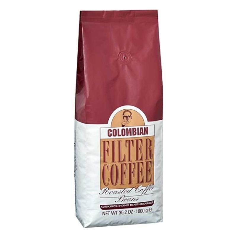 Турецкий кофе в зернах Kurukahveci Mehmet Efendi Colombian 1 кг оригинал