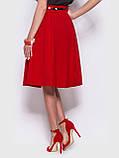 Стильная юбка длиной миди с удобными карманами по бокам, фото 6