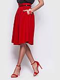 Стильная юбка длиной миди с удобными карманами по бокам, фото 5