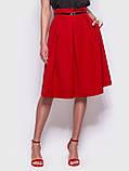 Стильная юбка длиной миди с удобными карманами по бокам, фото 4
