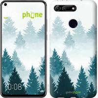 """Чехол на Huawei Honor View 20 Акварельные Елки """"4720u-1645-535"""""""