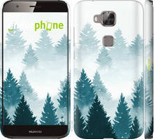 """Чехол на Huawei G8 Акварельные Елки """"4720c-493-535"""""""