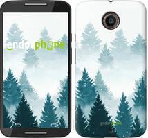 """Чохол на Motorola Moto X2 Акварельні Ялинки """"4720u-372-535"""""""