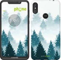 """Чехол на Motorola Moto E6 Plus Акварельные Елки """"4720u-1780-535"""""""