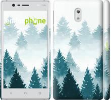 """Чехол на Nokia 3 Акварельные Елки """"4720c-818-535"""""""