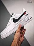 Мужские кроссовки Nike Air force 1 x Supreme x The North Face (белые) 1369, фото 3