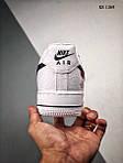 Мужские кроссовки Nike Air force 1 x Supreme x The North Face (белые) 1369, фото 4