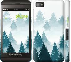 """Чехол на Blackberry Z10 Акварельные Елки """"4720c-392-535"""""""