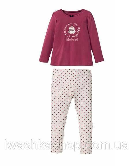 Брендовая пижама, лонгслив и лосины на девочек 2 - 4 лет, р. 98 / 104, Lupilu