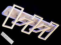 Светодиодная люстра с пультом-диммером и цветной подсветкой белая 11019-5, фото 1