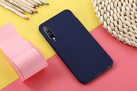 Чехол Soft Touch для Honor 9X Pro China силикон бампер темно-синий