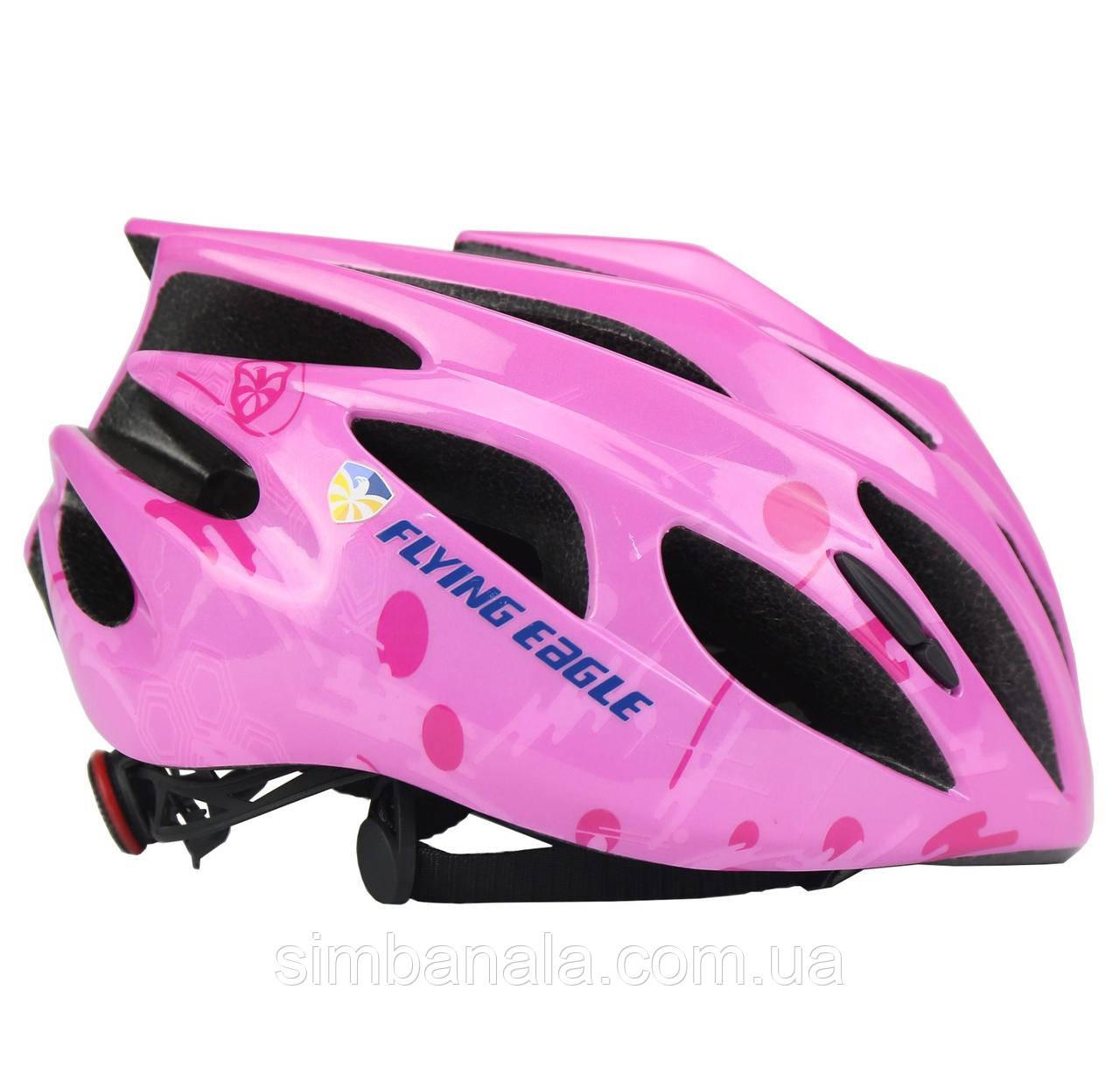 Детский шлем для роликов Flying Eagle Rapido(S/M pink)