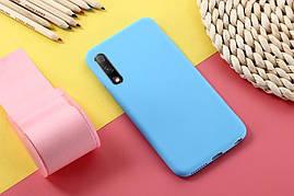 Чехол Soft Touch для Honor 9X Pro China силикон бампер мятно-голубой