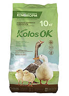 Комбикорм КоlosOK Старт цыплёнок, водоплавающая птица 1-8 недель 2 кг 10