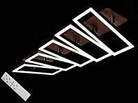 Светодиодная люстра с пультом-диммером и цветной подсветкой коричневая 11019-5, фото 1