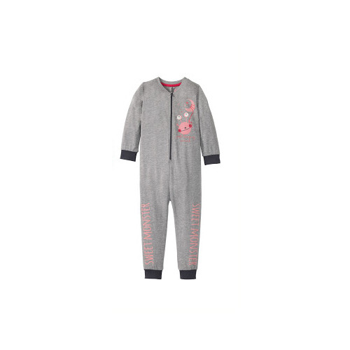 Кигуруми, пижама слитная светится в темноте серая р.98/104см Lupilu (Германия)