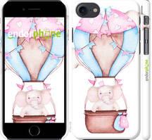 """Чехол на iPhone 8 Слоник на воздушном шаре """"4716c-1031-535"""""""