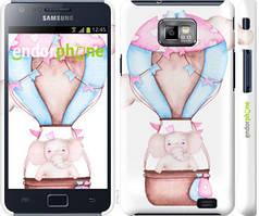 "Чехол на Samsung Galaxy S2 Plus i9105 Слоник на воздушном шаре ""4716c-71-535"""