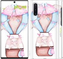 "Чехол на Samsung Galaxy Note 10 Слоник на воздушном шаре ""4716c-1718-535"""