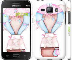 "Чехол на Samsung Galaxy J1 J100H Слоник на воздушном шаре ""4716c-104-535"""