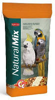 Корм для крупных попугаев (амазон, жако, какаду, ара, благородный попугай) Padovan NaturalMix Pappagalli 18 кг