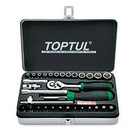 """Набір інструментів для автомобіля TOPTUL 1/4"""" 32ед. GCAD3204"""