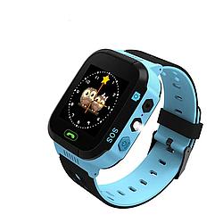 Детские часы с камерой,кнопкой sos ( Smart Watch F1) Голубые