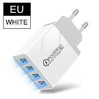 Сетевое зарядное устройство для быстрой зарядки Voxlink 4 port USB QC3.0 зарядный блок зарядка для телефона 9X