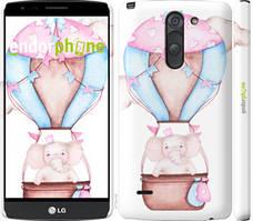 "Чехол на LG G3 Stylus D690 Слоник на воздушном шаре ""4716c-89-535"""