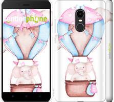 """Чохол на Xiaomi Redmi Note 4X Слоник на повітряній кулі """"4716c-951-535"""""""