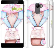 """Чехол на Xiaomi Redmi 4 Слоник на воздушном шаре """"4716c-417-535"""""""