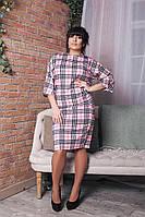 Летнее платье большого размера 50, Розовый