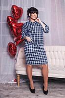 Летнее платье большого размера 50, Синий