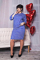 Летнее платье большого размера 52, Электрик
