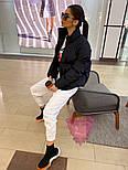 Женская короткая демисезонная куртка бомбер на молнии с воротником стойкой 7101258, фото 3