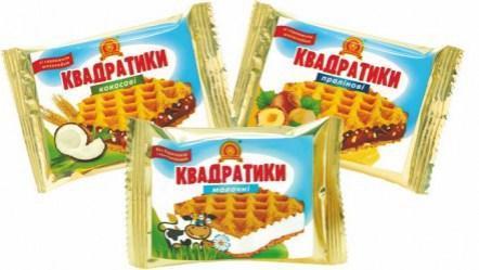 Конфеты «Квадратики Ассорти» - 1,5 кг