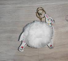 Аксесуар для сумки 15044 лама, 13,5 см, помпон