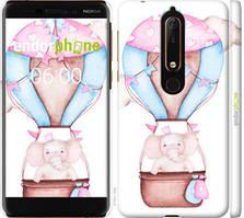 """Чехол на Nokia 6.1 Слоник на воздушном шаре """"4716c-1628-535"""""""
