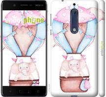 """Чехол на Nokia 5 Слоник на воздушном шаре """"4716c-804-535"""""""
