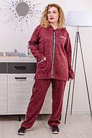 Женский спортивный костюм большого размера Квин марсала (54-68), фото 1