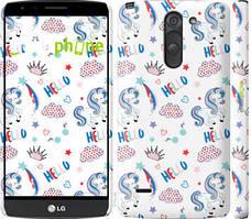 """Чехол на LG G3 Stylus D690 Единорожки 2 """"4715c-89-535"""""""